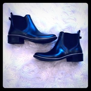 Kate Spade Rain Booties with Tiny Bow Detail